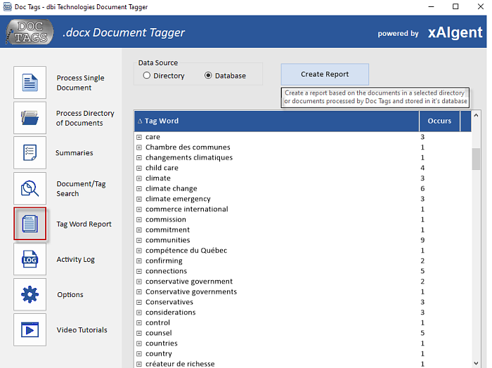 Doc-Tags - Document Management Reporting - Key Word Report